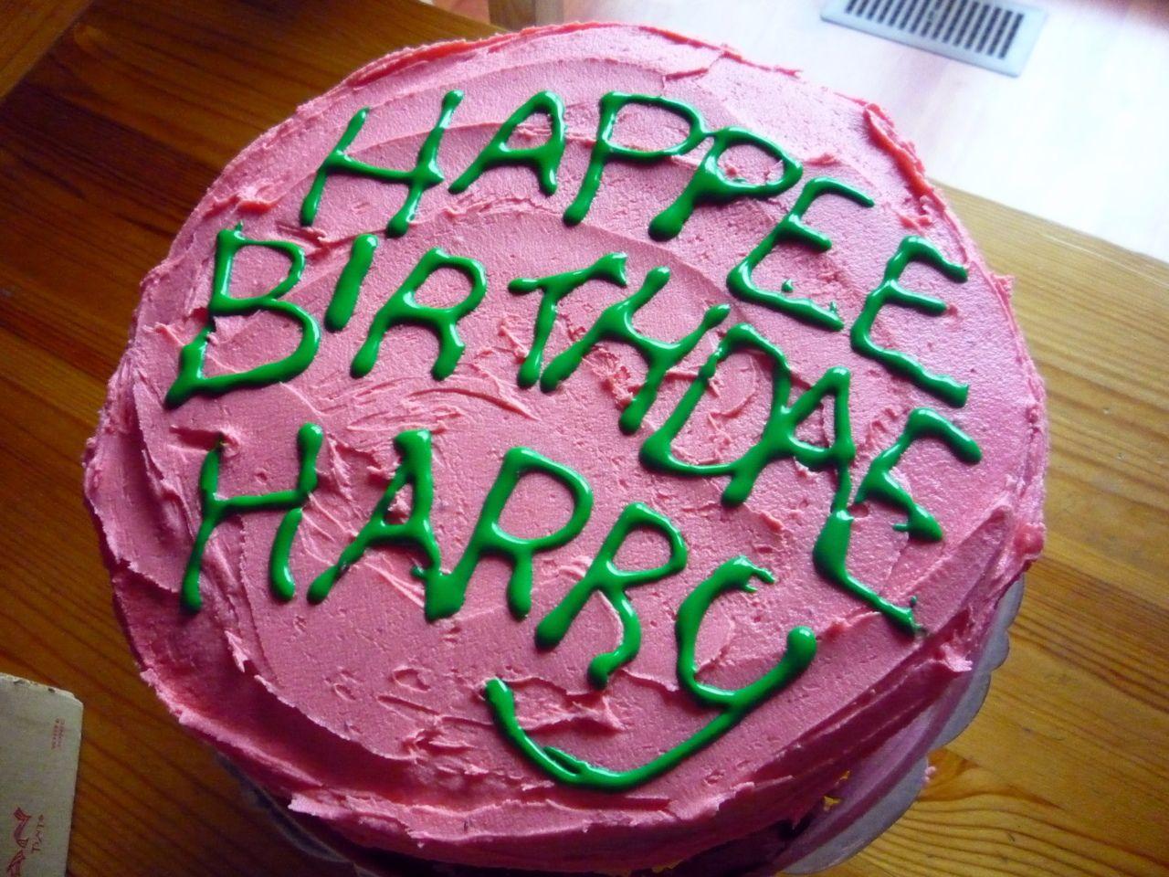 A Table Dans Harry Potter 4 Happy Birthday Harry Gateau D